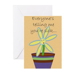 Sick n Twisted (2) Greeting Cards (Pk of 20)