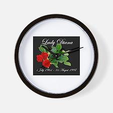 Lady Diana Memorial - Roses - Wall Clock