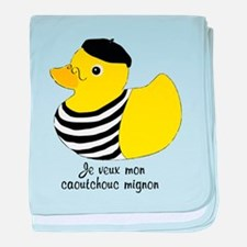 French Rubber Ducky baby blanket