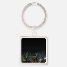 SEOUL NIGHT LIGHTS Square Keychain