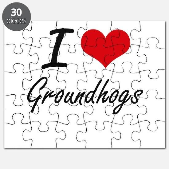 I love Groundhogs Artistic Design Puzzle
