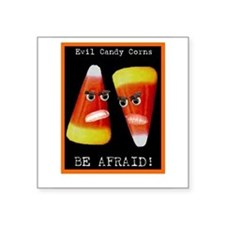 "Cute Afraid of Square Sticker 3"" x 3"""