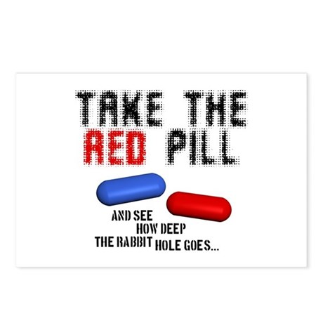 Take the red pill... Postcards (Package of 8)