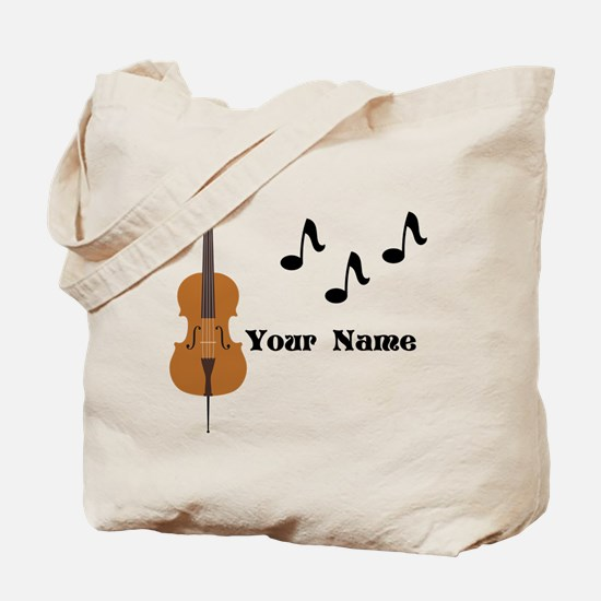Cello Music Personalized Tote Bag