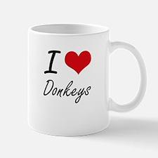 I love Donkeys Artistic Design Mugs