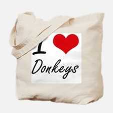 I love Donkeys Artistic Design Tote Bag