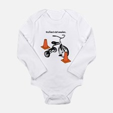 Cute Auto Long Sleeve Infant Bodysuit