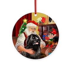 Santa's Newfoundland Ornament (Round)