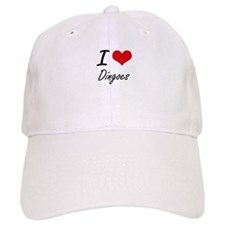 I love Dingoes Artistic Design Baseball Cap