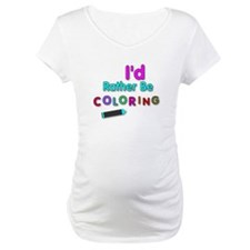 I'd Rather Be Coloring Silly Phrase Shirt