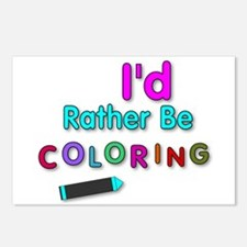 I'd Rather Be Coloring Silly Phrase Postcards (Pac