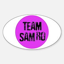 Team SamRo Oval Decal