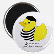 French Rubber Ducky Magnet
