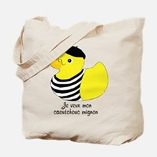 French Rubber Ducky Tote Bag