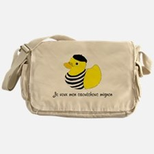 French Rubber Ducky Messenger Bag