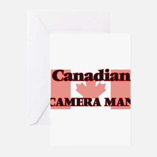 Canadian Camera Man Greeting Cards