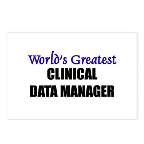 Worlds Greatest CLINICAL DATA MANAGER Postcards (P