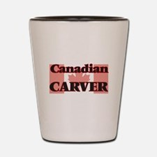 Canadian Carver Shot Glass