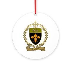 THIBEAU Family Crest Ornament (Round)