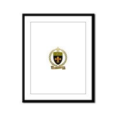 THIBEAU Family Crest Framed Panel Print