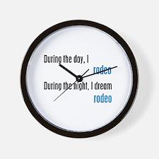 I Dream Rodeo Wall Clock