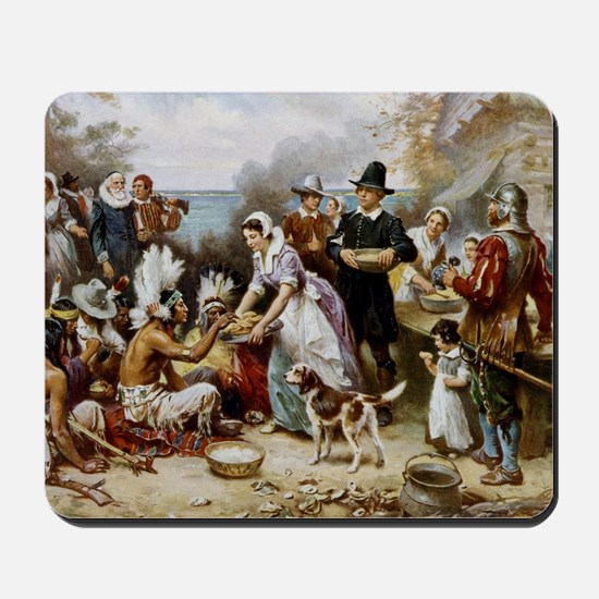 first thanksgiving Mousepad