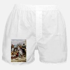 first thanksgiving Boxer Shorts