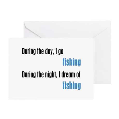I Dream Fishing Greeting Cards (Pk of 10)