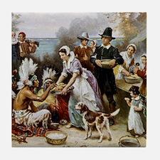 first thanksgiving Tile Coaster