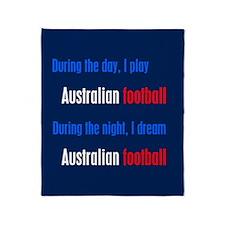 I Dream Australian Football Throw Blanket