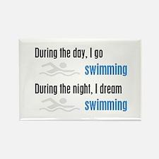 I Dream Swimming Rectangle Magnet