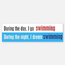 I Dream Swimming Bumper Bumper Sticker