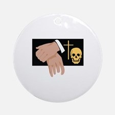 Funeral Director Round Ornament