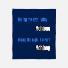 I Dream Mahjong Throw Blanket