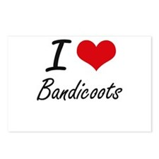 I love Bandicoots Artisti Postcards (Package of 8)