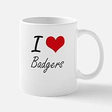 I love Badgers Artistic Design Mugs