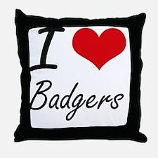 I love Badgers Artistic Design Throw Pillow