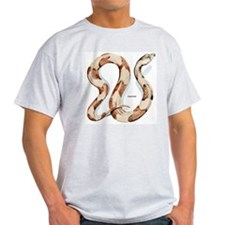 Copperhead Snake (Front) Ash Grey T-Shirt