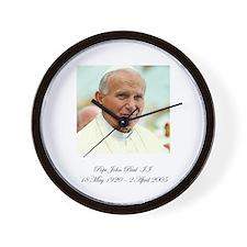 Pope John Paul II - Memorial Wall Clock