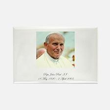 Pope John Paul II - Memorial Rectangle Magnet