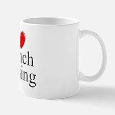 """I Love (Heart) French Kissing"" Mug"