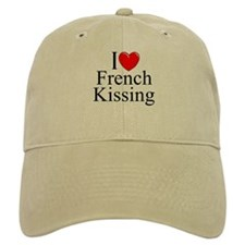 """I Love (Heart) French Kissing"" Baseball Cap"