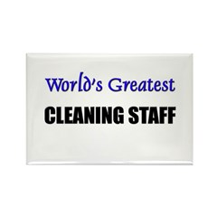 Worlds Greatest CLEANING STAFF Rectangle Magnet