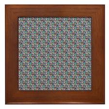 silver metallic Framed Tile