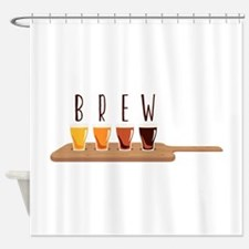 Brew Glasses Shower Curtain