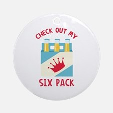 My Six Pack Round Ornament