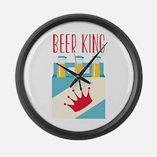 Beer King Large Wall Clock