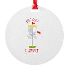 Disc Golf Champion Ornament