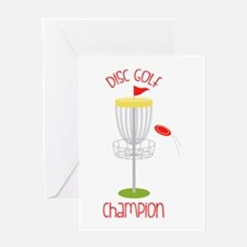 Disc Golf Champion Greeting Cards