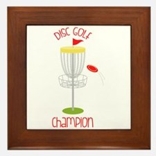 Disc Golf Champion Framed Tile